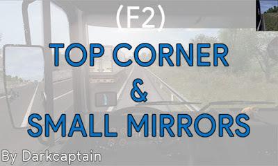 Top Corner & Small Mirrors ETS2 1.38-1.39
