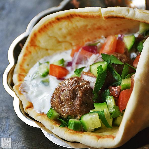 Mediterranean Meatball Gyros Sandwich