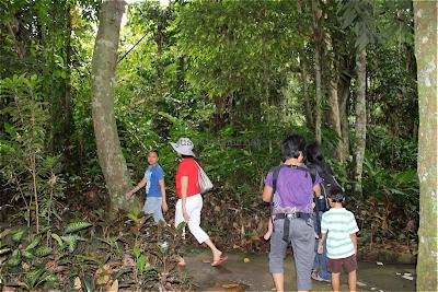 babywearing while hiking through eagle sanctuary using BobaAir