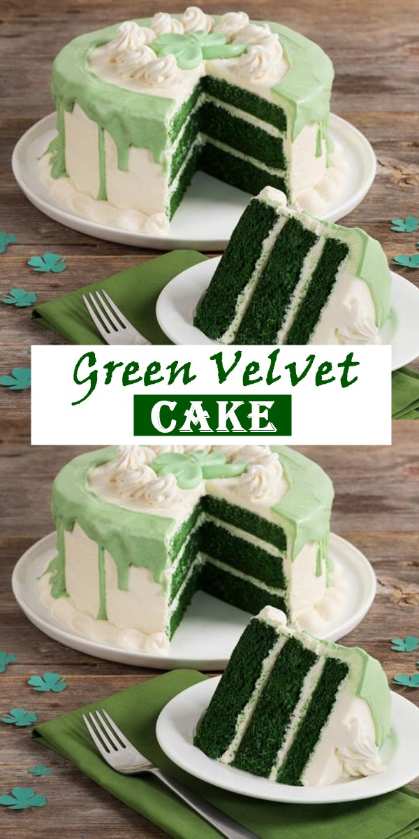 Green Velvet Cake #cakerecipes