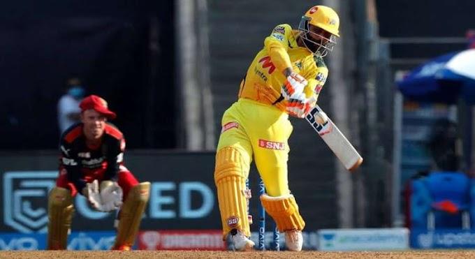 Ravindra Jadeja smashed 37 in an over against Harshal Patel