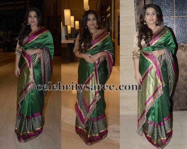 Vidya Balan Latest Silk Saree