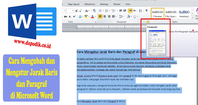 Cara Mengubah dan Mengatur Jarak Baris dan Paragraf di Microsoft Word