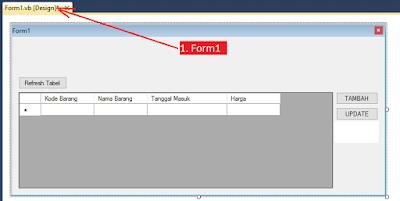 2 - Tutorial Vb.Net - Cara Menciptakan Tombol Delete Database Mysql Memakai Connector Odbc