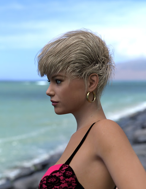 Azzuria Hairstyle for Genesis 3 and 8 Female