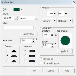 cara setting teks out line di coreldraw