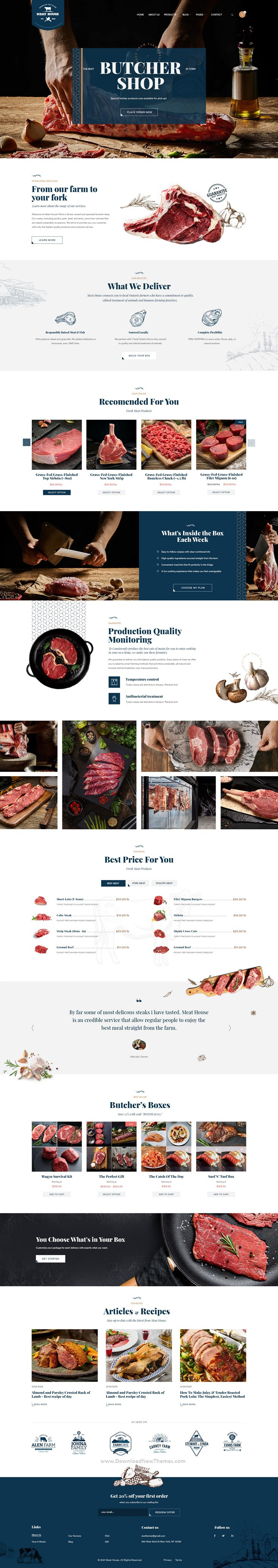 Butcher and Carne Shop PSD template