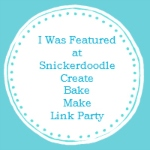Salmon Cakes with Bacon featured at Snickerdoodle Create Bake and Make Link -up!
