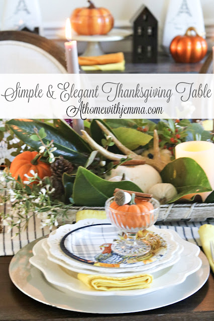 Thanksgiving, tablescape, white, blue, athomewithjemma