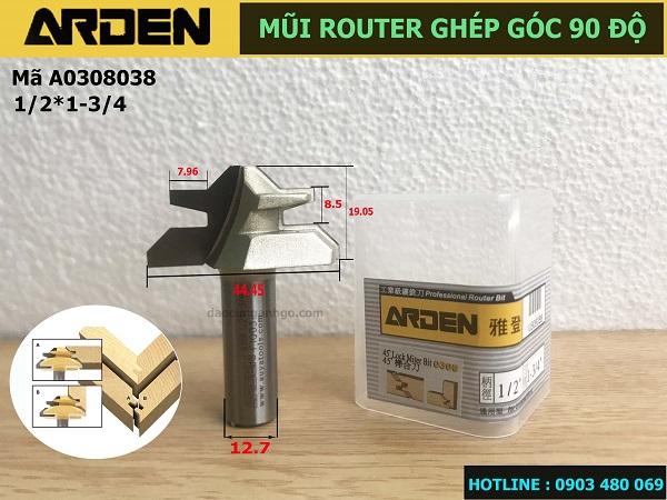 Mũi Router ghép góc 90 độ ARDEN A0308