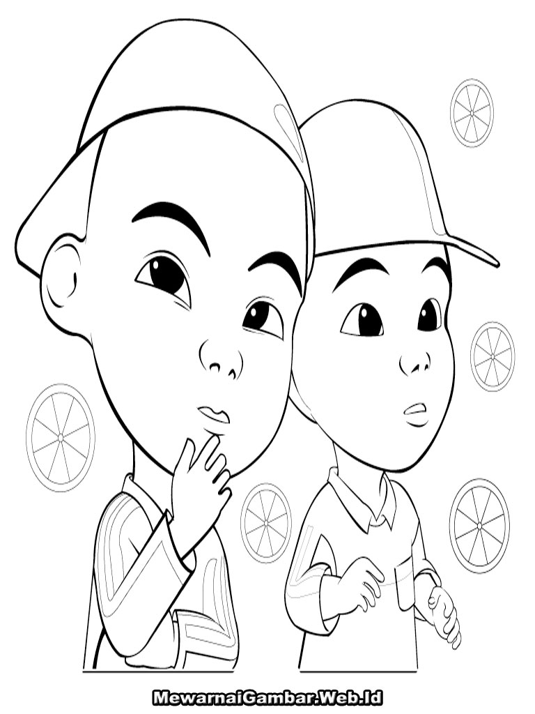 Gambar Free Coloring Pages Of Upin And Ipin Jpeg Png Gif Best Pictures Mewarnai