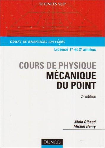 livres :Mécanique du point: cours de physique