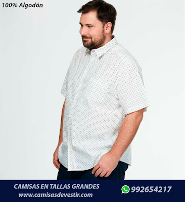 Camisas en tallas grandes en Ica