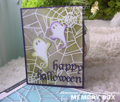 halloween stencil background card front