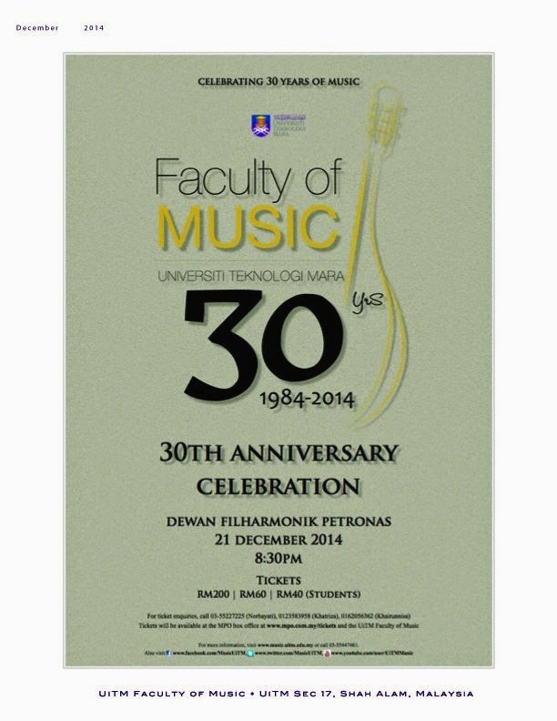 30th Anniversary Celebration  : Faculty Of Music