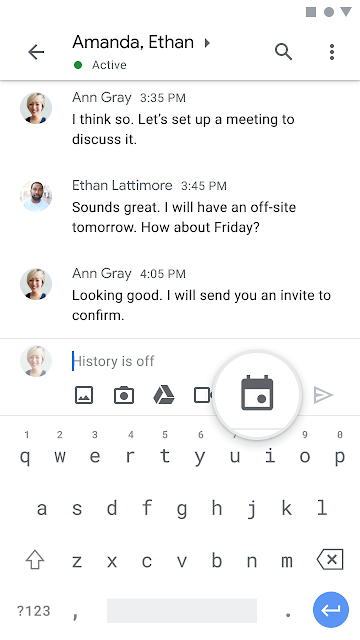 Schedule Google Calendar events from Google Chat 2