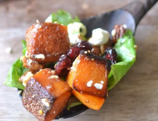 ROASTED BUTTERNUT SQUASH SALAD #vegetable #salad #easy #food #healthydinner