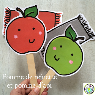 Pomme de reinette Song Props for French class