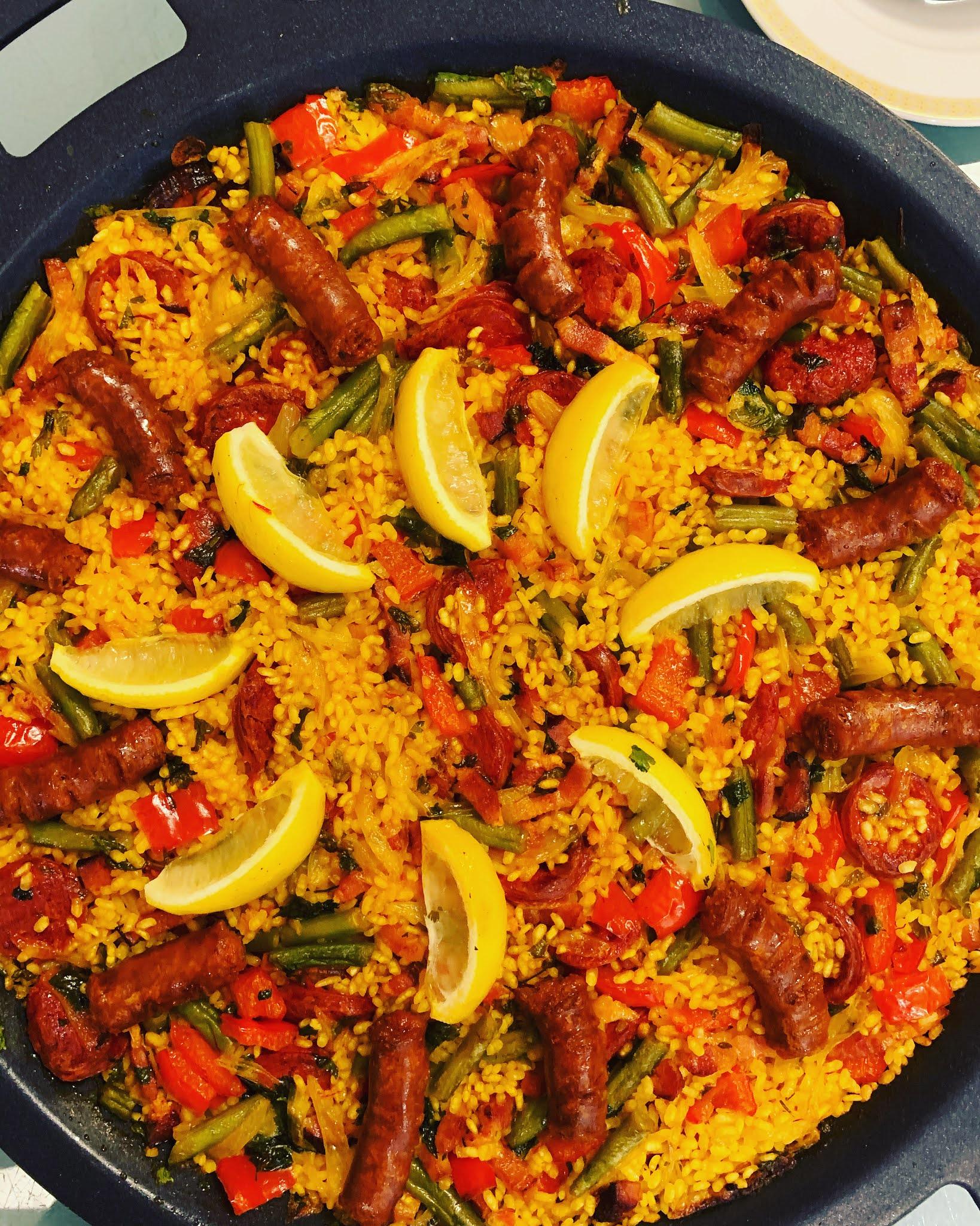 """""""Paella"""" con carne (mucha carne)"""