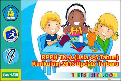 RPPH PAUD/TK A Usia 4-5 Tahun Kurikulum 2013