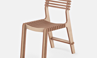 curved chair assembled form parts carved by an X-Carve cnc machine