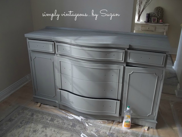 painted, before,after,antique,buffet,sideboard,mahogany,annie sloan,french linen,old white