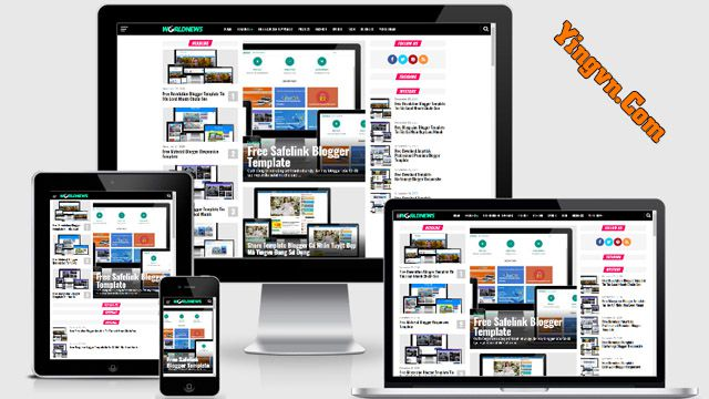 Template World News Magazine Responsive Blogger