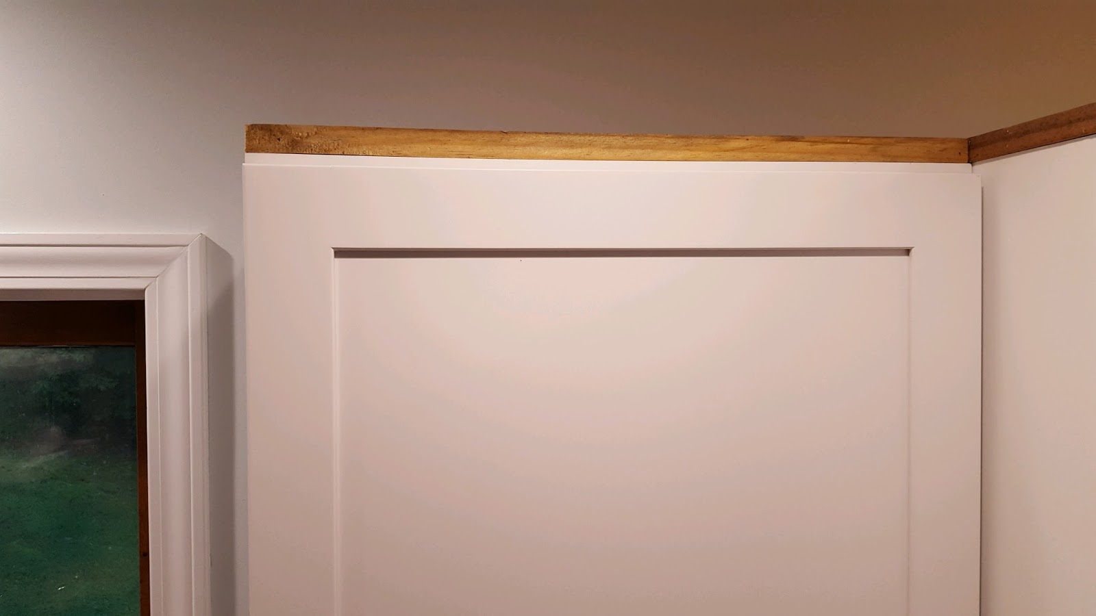 Installing Kitchen Cabinet Crown Molding Mr Diy Used Scrap Wood And Nailed It To The Top Of The