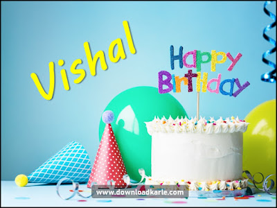 Happy Birthday Cake For Vishal
