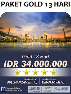 Paket Umroh Gold 13 Hari