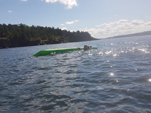 kayaking oslo fjord norway swimming