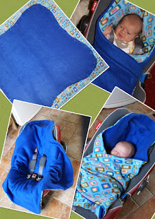 Image: Managing The Mayhem: Homemade Car Seat Blanket