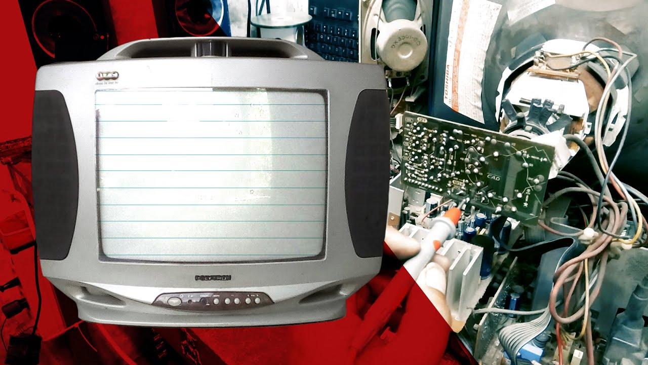 TV Polytron 123 Gambar Bergaris Seperti Buku | Mengakali Flyback Tegangan Over