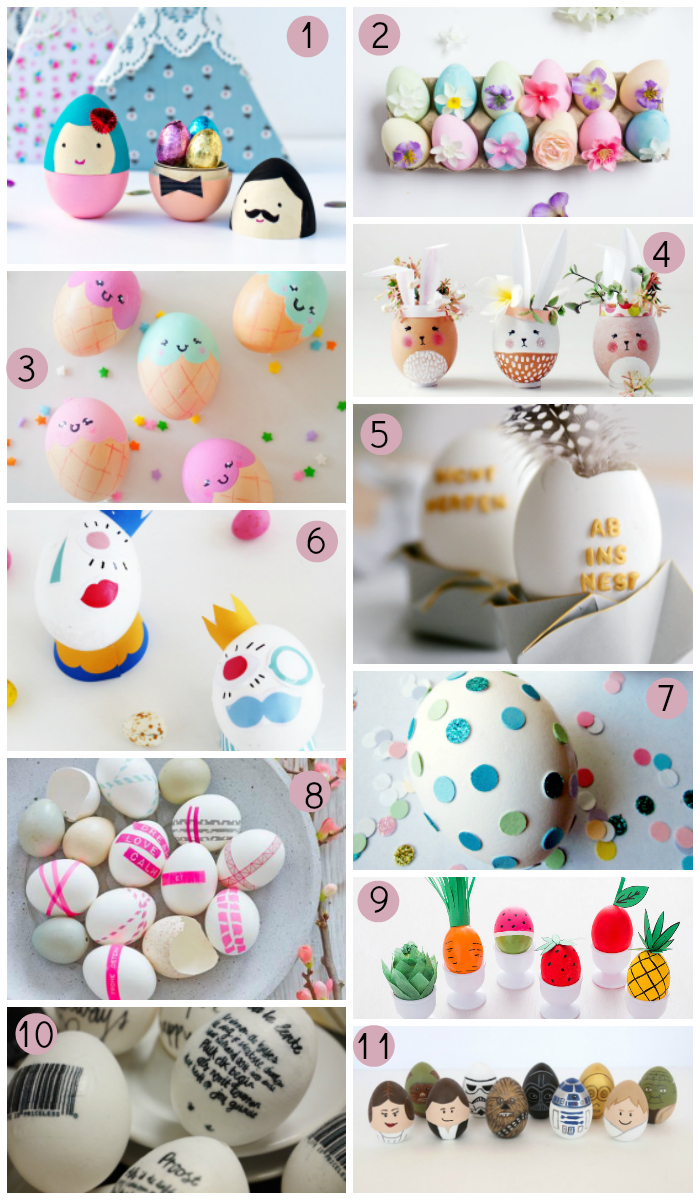 11 ideas para decorar huevos de pascua blog f de fifi