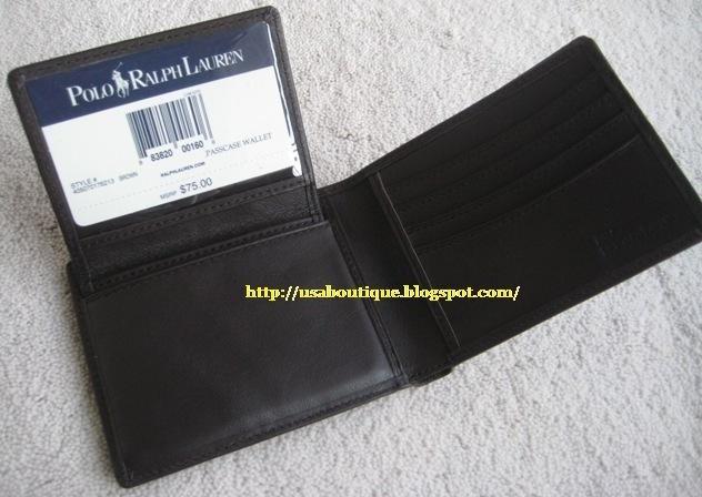 USA Boutique: POLO Ralph Lauren Genuine Leather Bifold ...