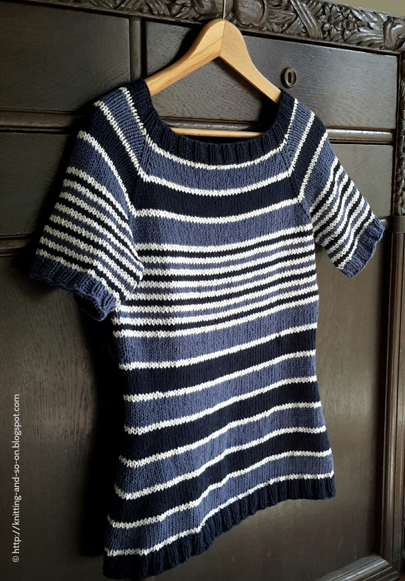 51510833c7a3f Knitting and so on  Tips to Knit A Striped Top-Down Sweater without A  Pattern