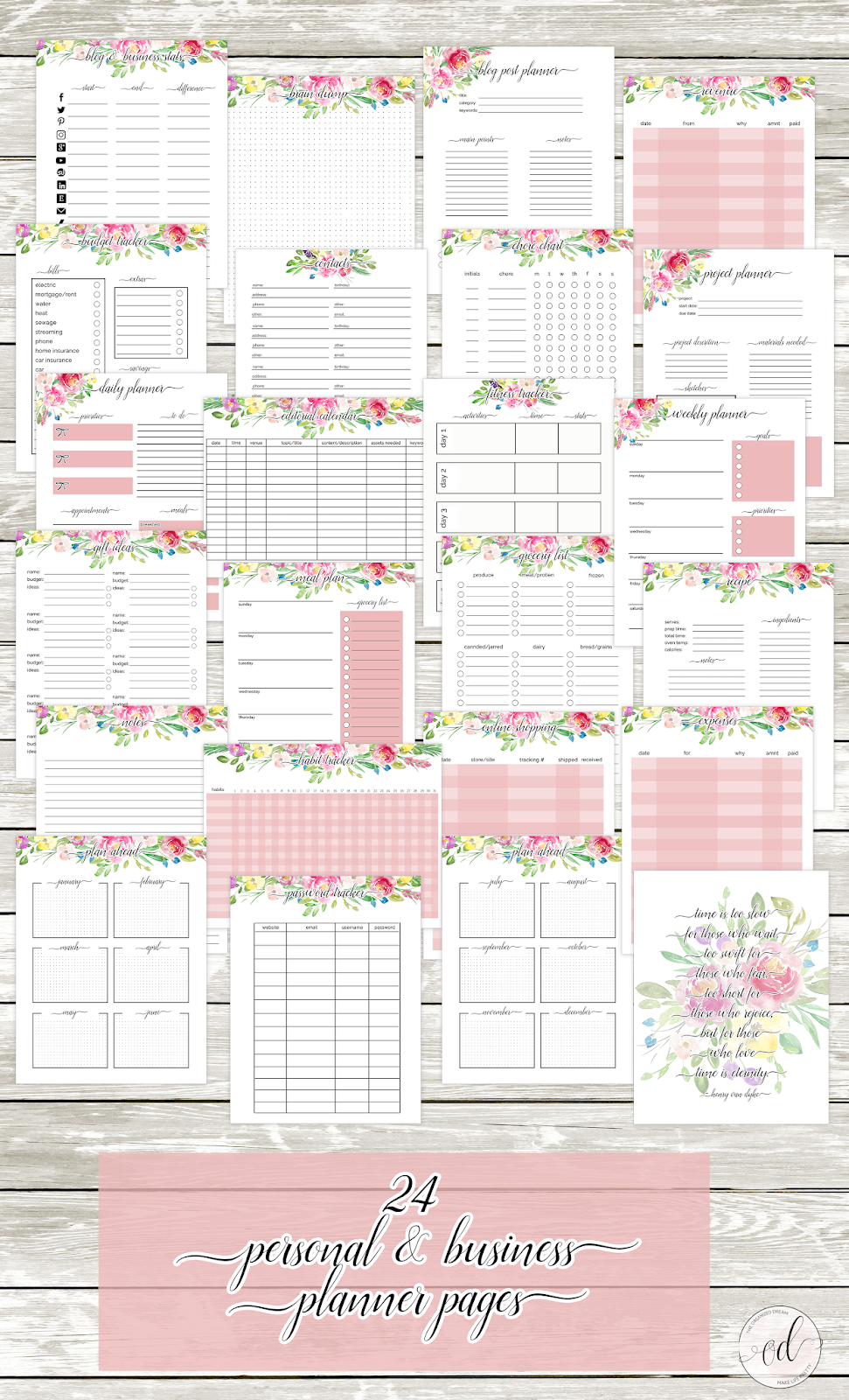 free 2020 planner pages with 18 month calendars