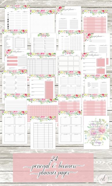 Free 2020 planner pages and calendar printables. #freeprintables #planning #calendars #2020printables