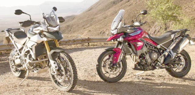 Triumph motorcycle UK launch tigor 900 bike full range.