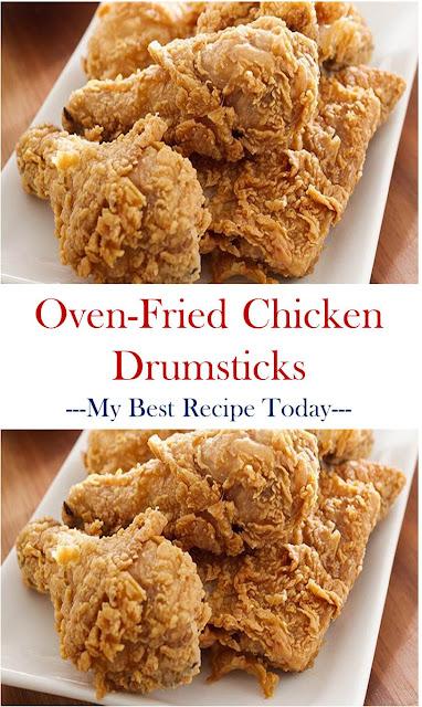 Oven-Fried Chicken Drumsticks  #OvenChicken #FriedChicken #ChicekenDrumsticks #OvenFriedChickenDrumsticks