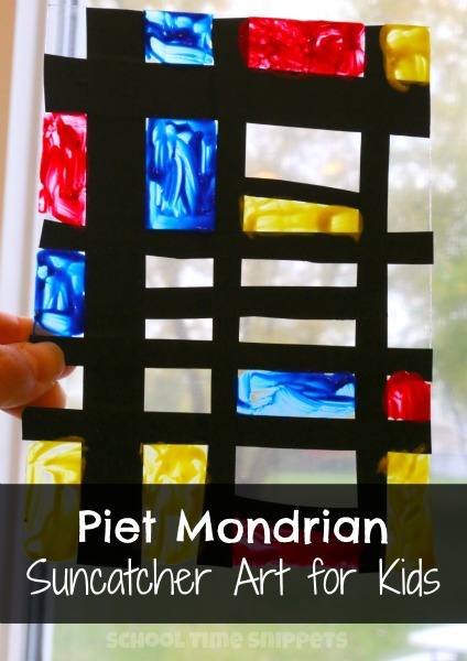 Piet Mondrian Suncatcher Art