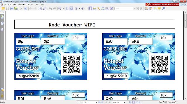 Kode Voucher WIFI Gratis