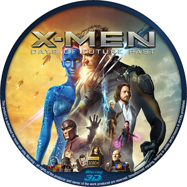 X Men Days Of Future Past 3D Bluray Label
