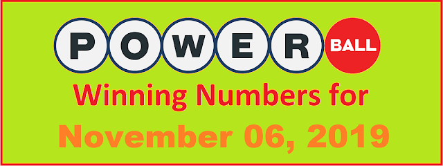 PowerBall Winning Numbers for Wednesday, November 06, 2019