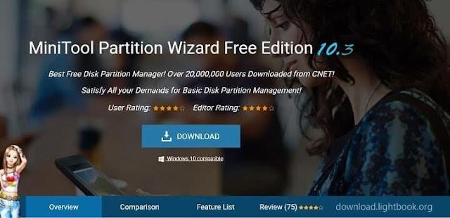 برنامج لتقسيم ولتغيير مساحات الهارد دسك مجانا وتغيير حجم  MiniTool Partition Wizard 2019
