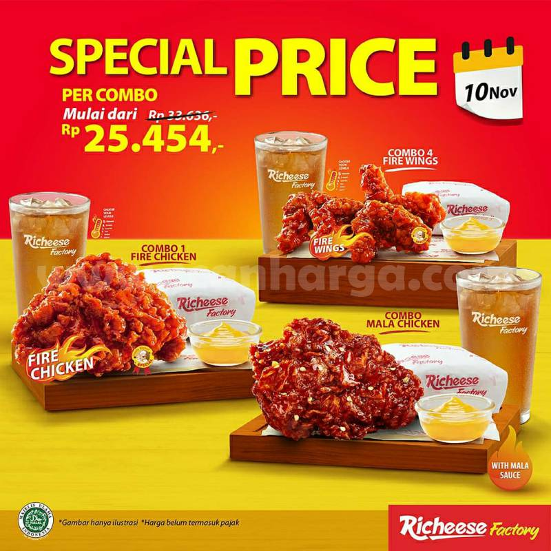 Promo Richeese Factory Special Price Per Combo Start From IDR 25.454