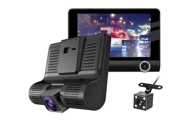 3 Lens Car DVR Dash Cam