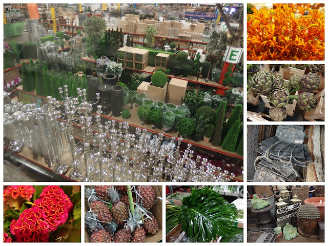 Sundries, foliage, exotic flowers and fruit & vegetables are some of the more unusual items available