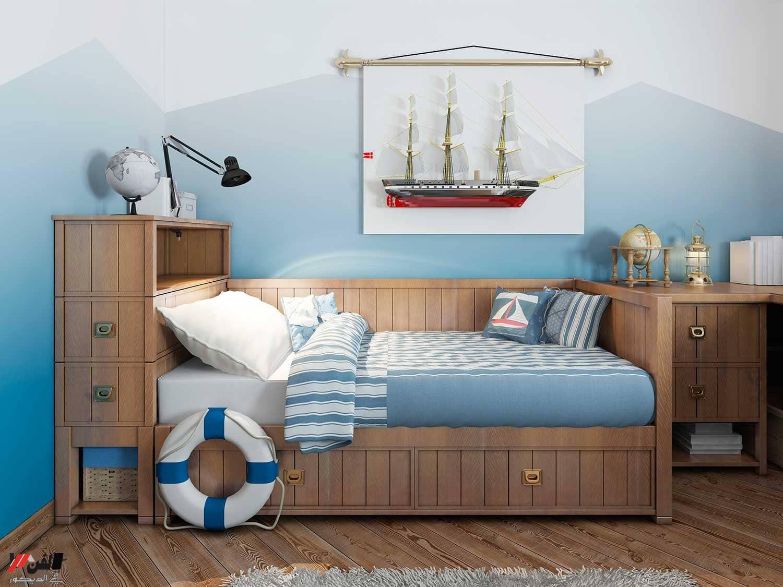 لعشاق البحر ديكورات وتصاميم غرف نوم بحرية كلاسيكية