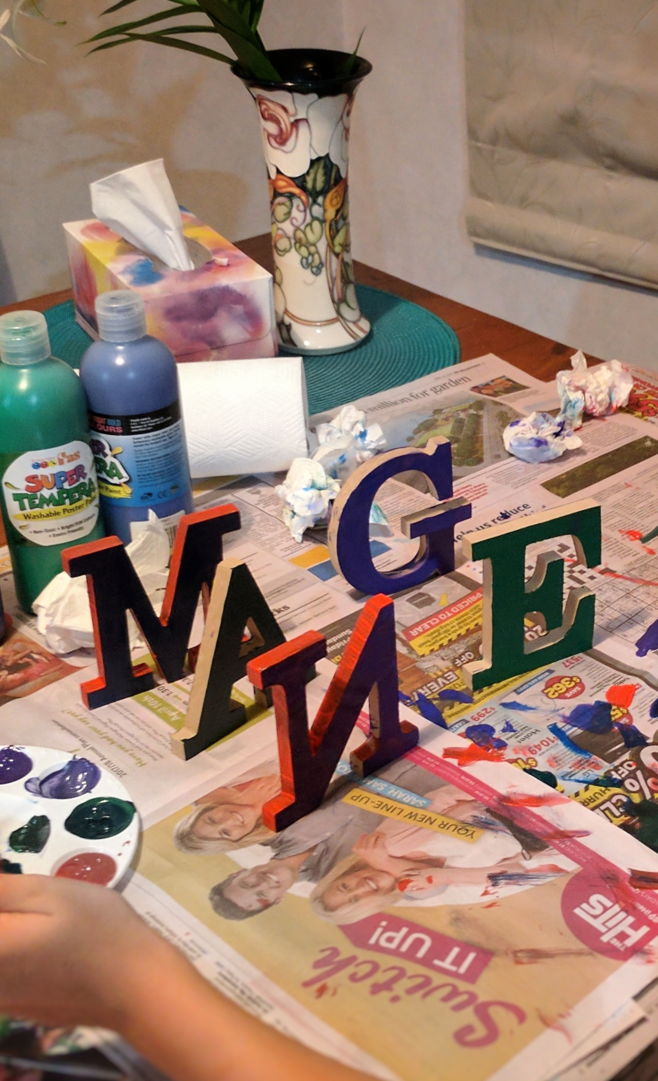 M E G A N letters to be painted